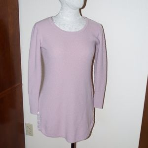 Cynthia Rowley Cashmere Rose Pink Long Sweater M